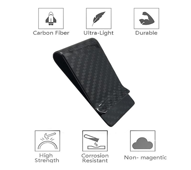 glossy-black-carbon-fiber-money-clip-features