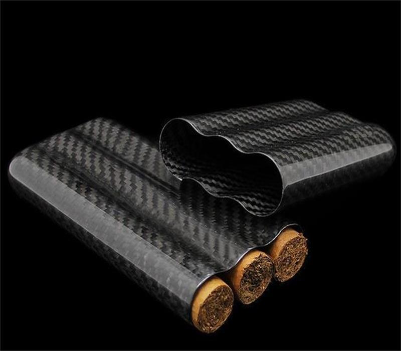 3tubes cigar case glossy black