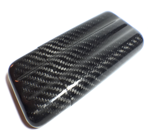 3tubes cigar case glossy black