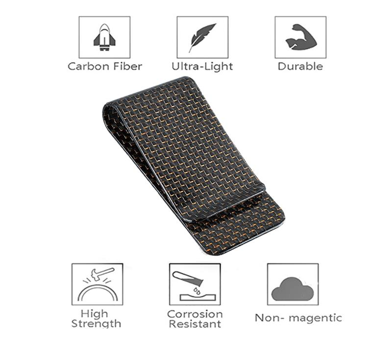 glossy-gold-carbon-fiber-money-clip-features