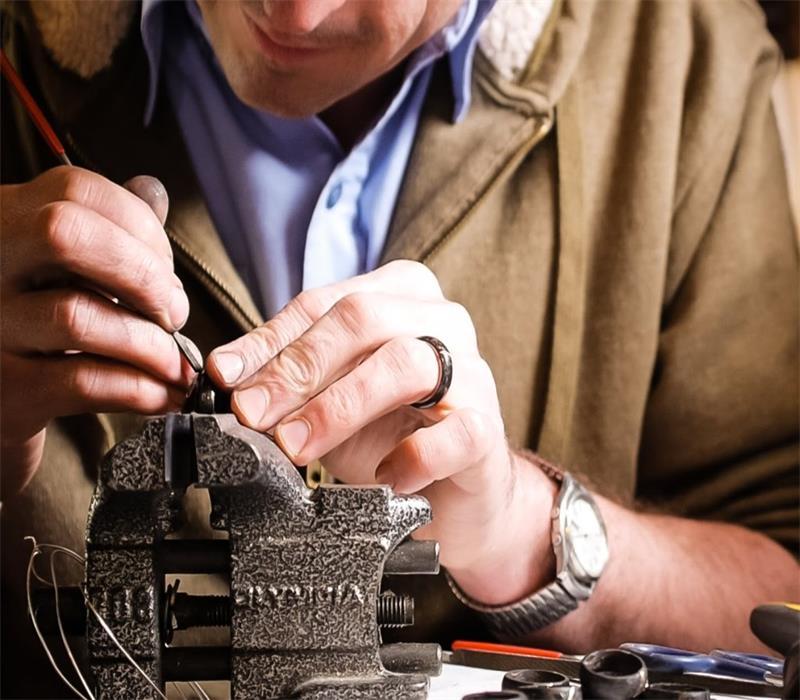 Carbon Fiber Wedding Rings for Men
