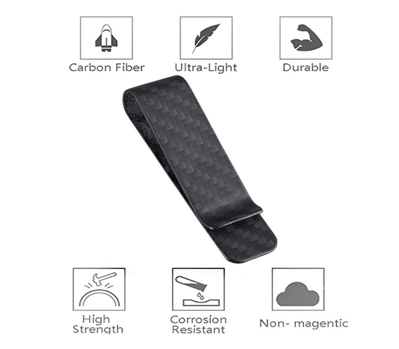 small-size-carbon-fiber-money-clip-features
