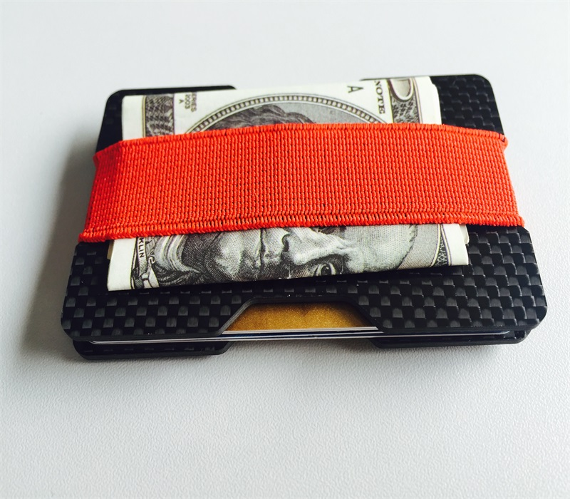two_groove_carbon_card_holder_plates-red-elastic-stripe-hold-money