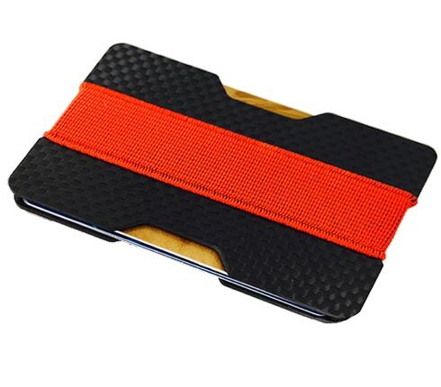 two_groove_carbon_card_holder_plates_red_elastic_stripe